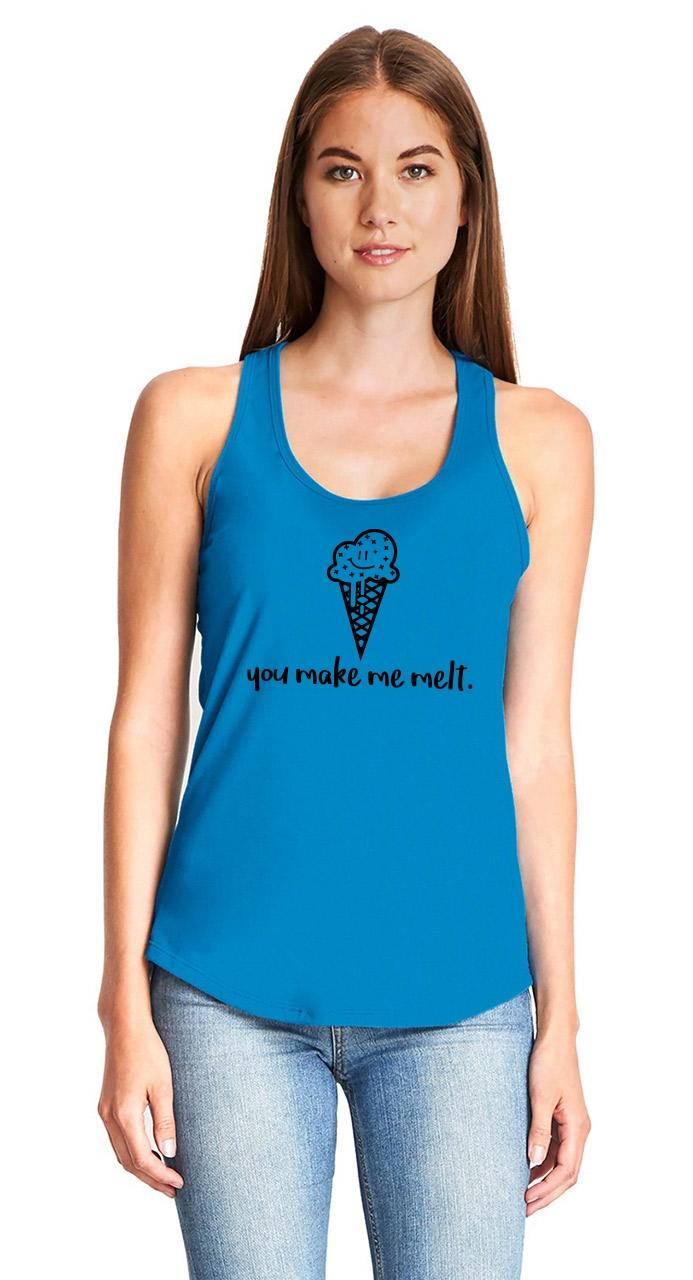 You-Make-Me-Melt-Ladies-Tank-Top-Valentines-Day-Gift-Ice-Cream-Graphic-Tee-Z6 thumbnail 21