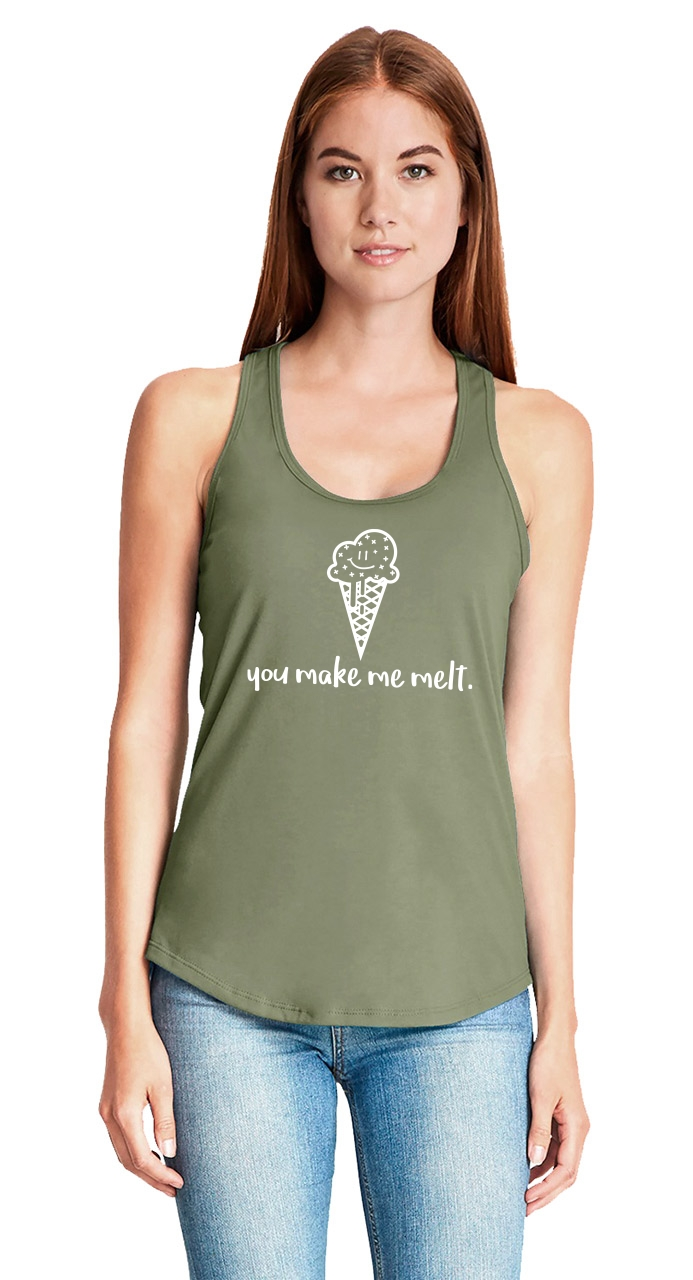 You-Make-Me-Melt-Ladies-Tank-Top-Valentines-Day-Gift-Ice-Cream-Graphic-Tee-Z6 thumbnail 30