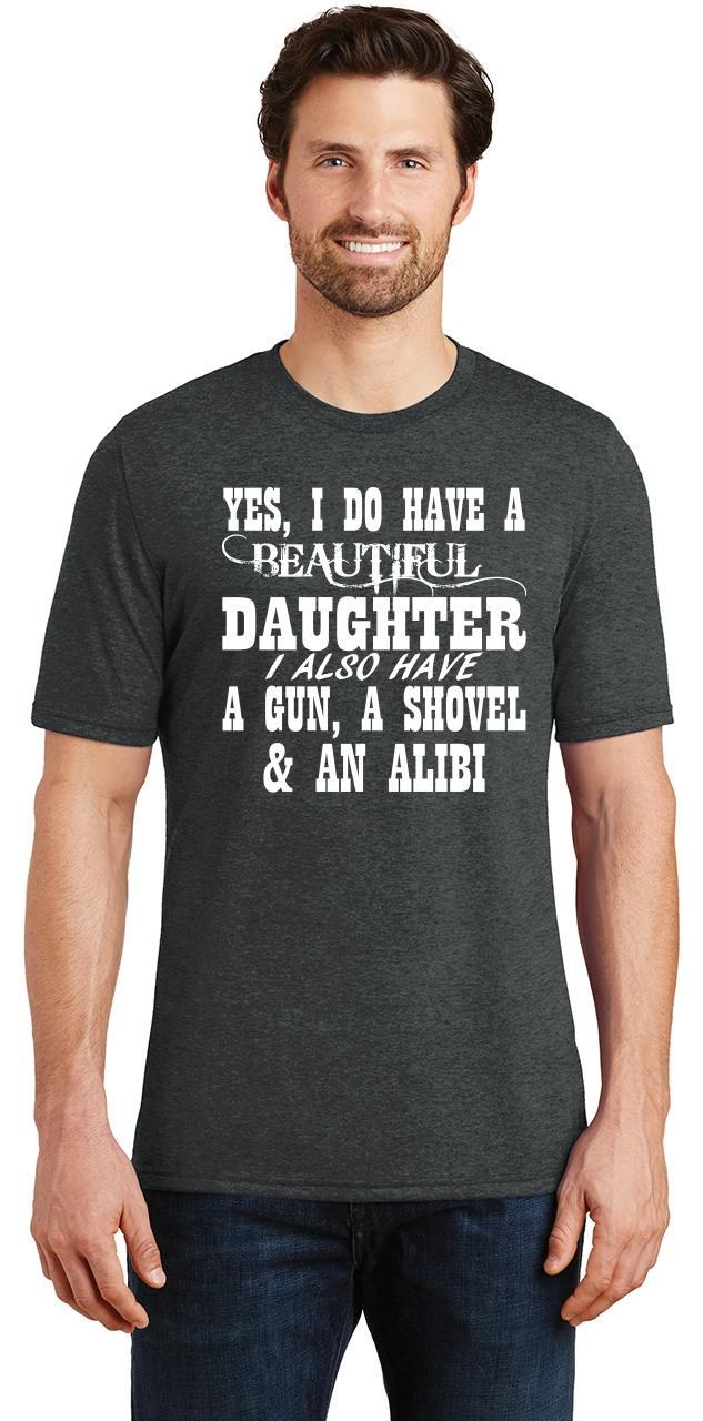 Mens-Yes-I-Do-Have-Beautiful-Daughter-amp-Gun-Shovel-Backyard-Funny-Gun-Shirt thumbnail 6