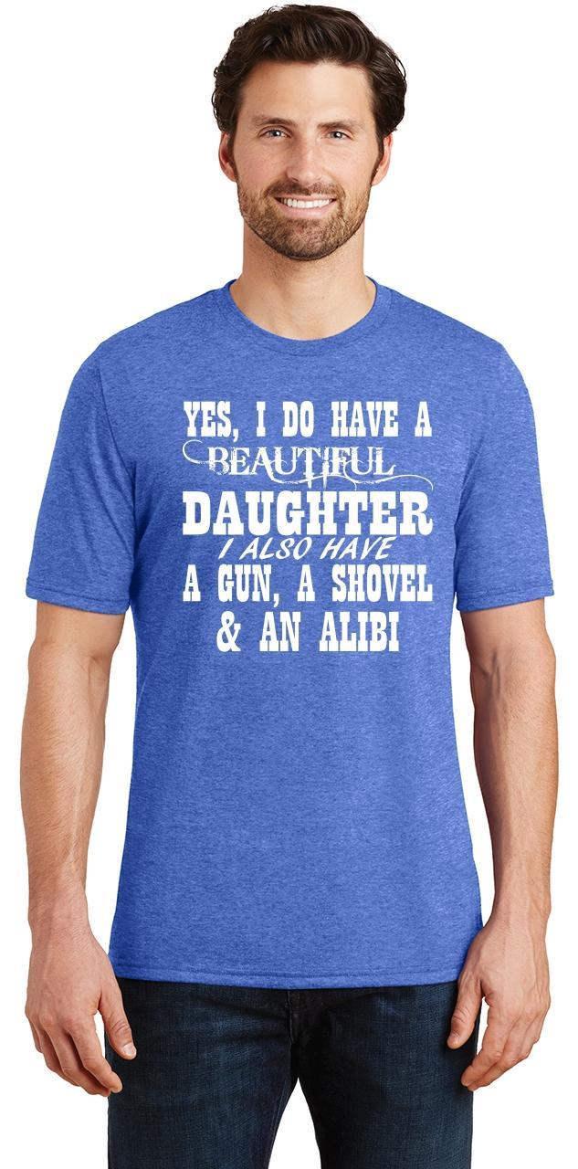 Mens-Yes-I-Do-Have-Beautiful-Daughter-amp-Gun-Shovel-Backyard-Funny-Gun-Shirt thumbnail 27