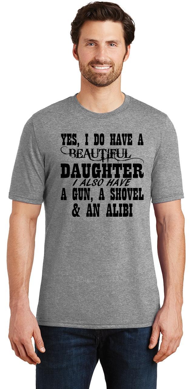 Mens-Yes-I-Do-Have-Beautiful-Daughter-amp-Gun-Shovel-Backyard-Funny-Gun-Shirt thumbnail 12