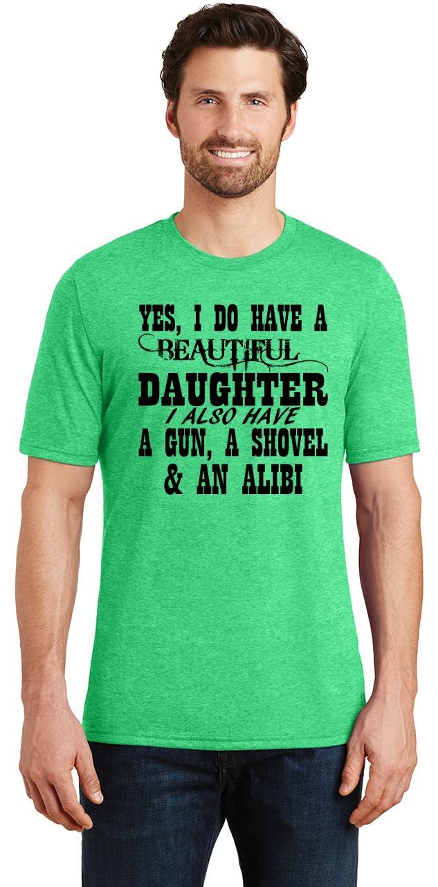 Mens-Yes-I-Do-Have-Beautiful-Daughter-amp-Gun-Shovel-Backyard-Funny-Gun-Shirt thumbnail 9
