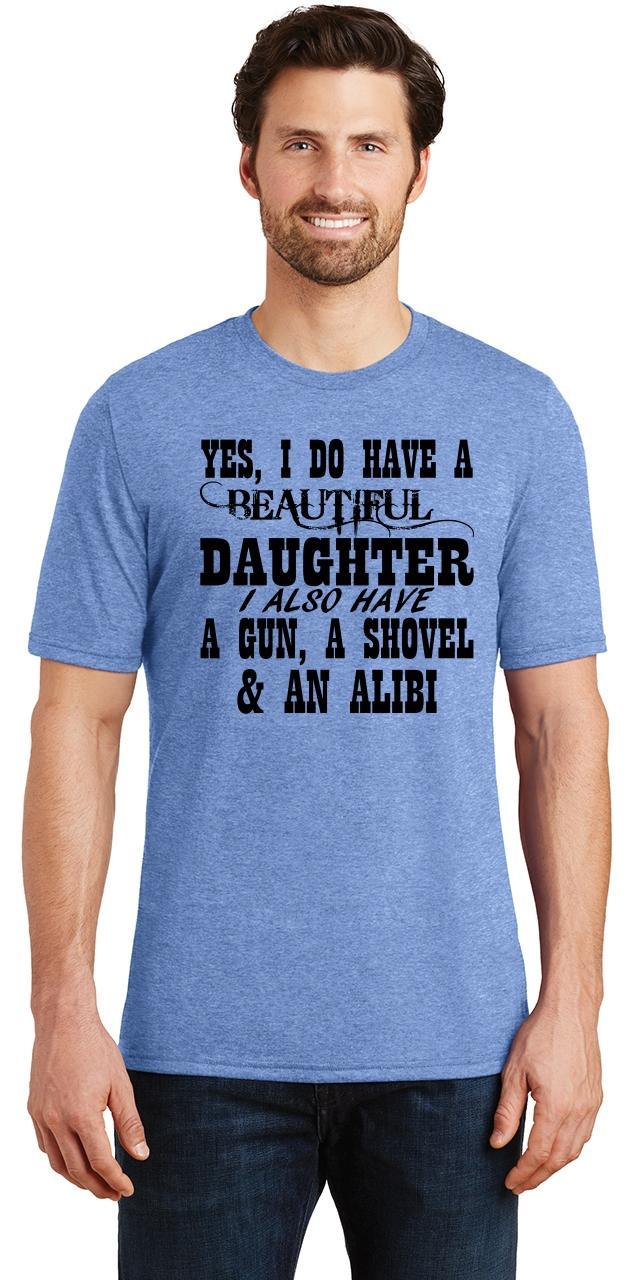 Mens-Yes-I-Do-Have-Beautiful-Daughter-amp-Gun-Shovel-Backyard-Funny-Gun-Shirt thumbnail 15