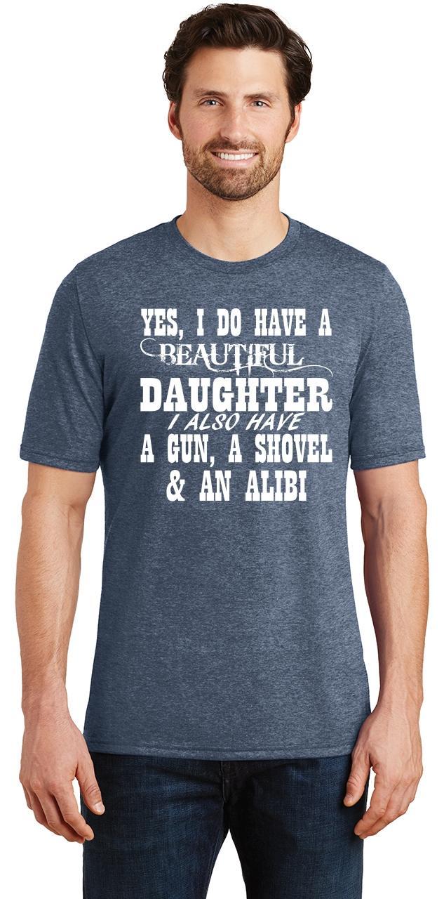Mens-Yes-I-Do-Have-Beautiful-Daughter-amp-Gun-Shovel-Backyard-Funny-Gun-Shirt thumbnail 18