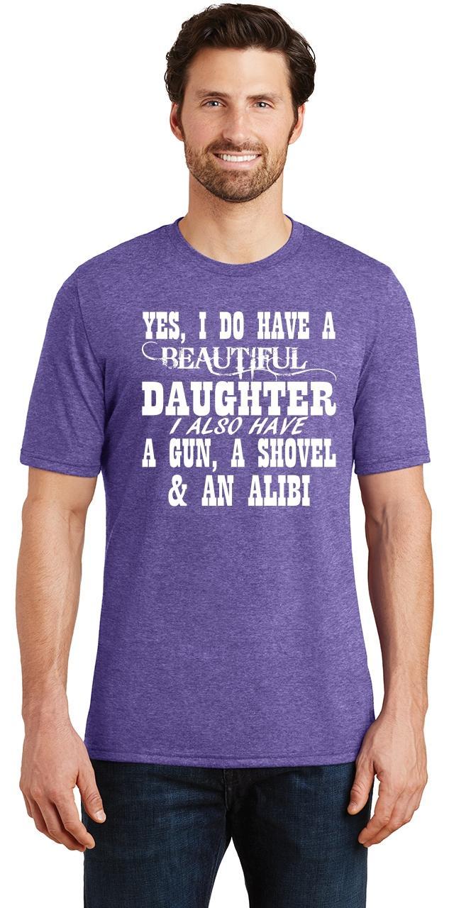 Mens-Yes-I-Do-Have-Beautiful-Daughter-amp-Gun-Shovel-Backyard-Funny-Gun-Shirt thumbnail 21