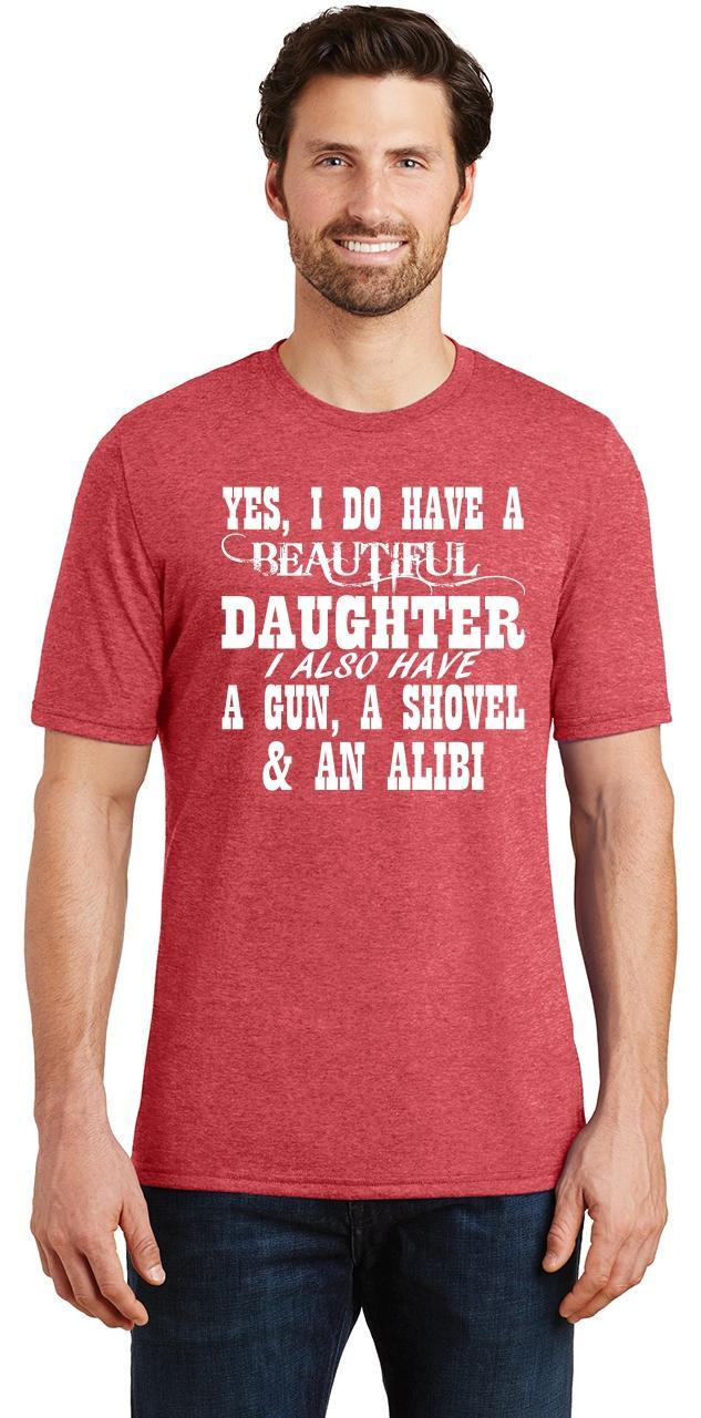 Mens-Yes-I-Do-Have-Beautiful-Daughter-amp-Gun-Shovel-Backyard-Funny-Gun-Shirt thumbnail 24