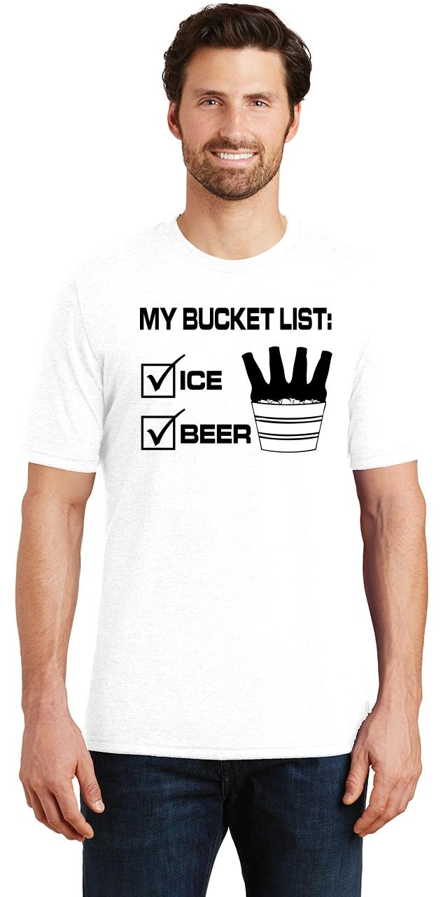 Mens-My-Bucket-List-Funny-Beer-Shirt-Tri-Blend-Tee-Party-Alcohol-Summer-Ice thumbnail 33
