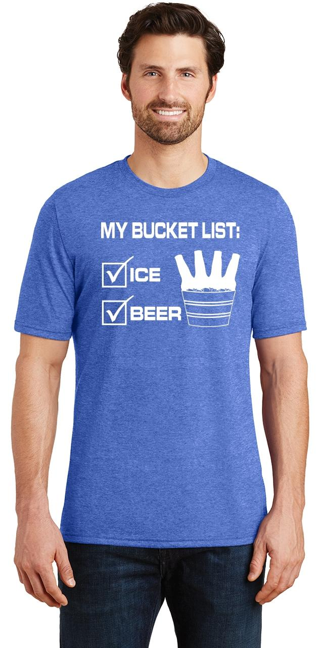 Mens-My-Bucket-List-Funny-Beer-Shirt-Tri-Blend-Tee-Party-Alcohol-Summer-Ice thumbnail 27