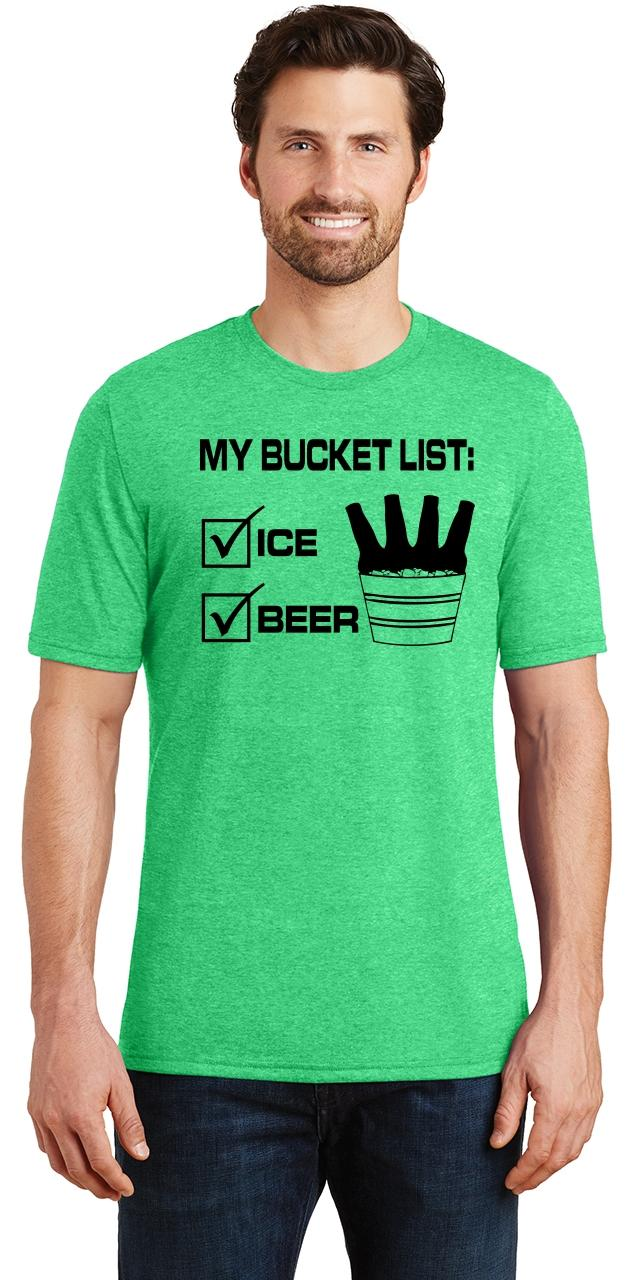 Mens-My-Bucket-List-Funny-Beer-Shirt-Tri-Blend-Tee-Party-Alcohol-Summer-Ice thumbnail 9