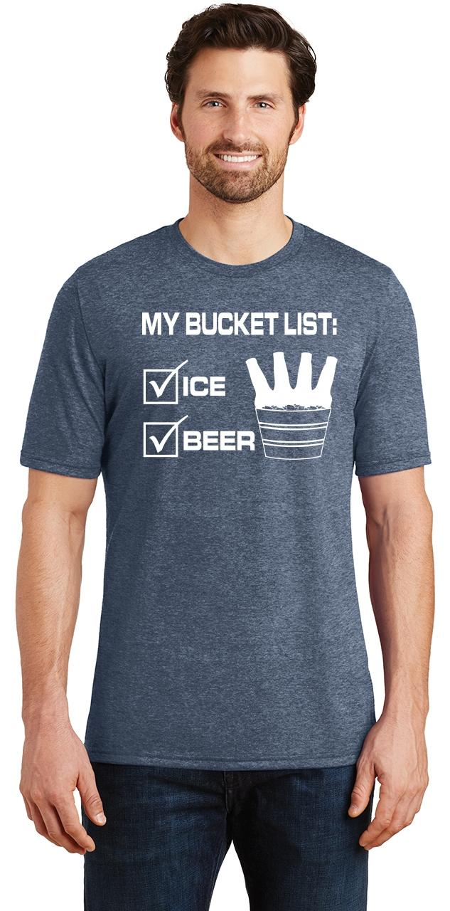 Mens-My-Bucket-List-Funny-Beer-Shirt-Tri-Blend-Tee-Party-Alcohol-Summer-Ice thumbnail 18