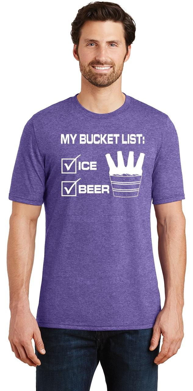 Mens-My-Bucket-List-Funny-Beer-Shirt-Tri-Blend-Tee-Party-Alcohol-Summer-Ice thumbnail 21