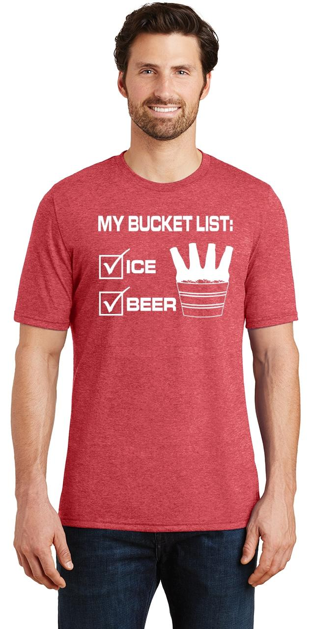 Mens-My-Bucket-List-Funny-Beer-Shirt-Tri-Blend-Tee-Party-Alcohol-Summer-Ice thumbnail 24