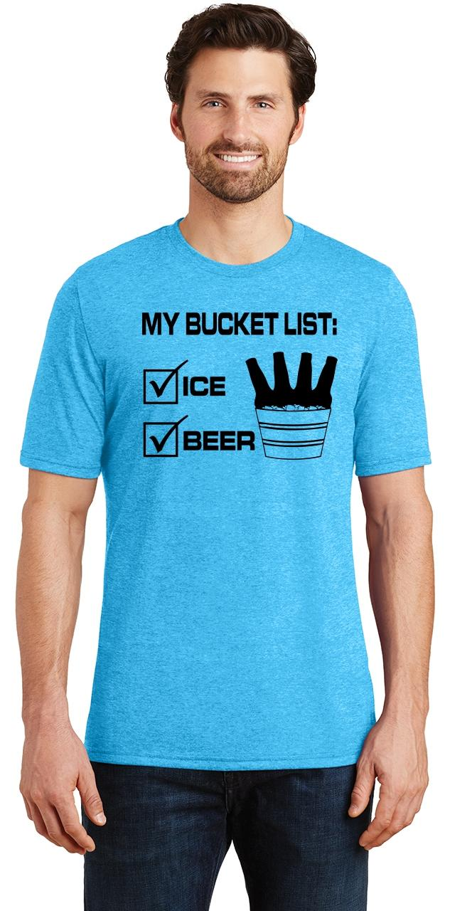 Mens-My-Bucket-List-Funny-Beer-Shirt-Tri-Blend-Tee-Party-Alcohol-Summer-Ice thumbnail 30