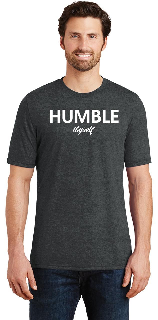 Mens-Humble-Thyself-Tri-Blend-Tee-Religious-Inspirational-Country-Yoga thumbnail 6