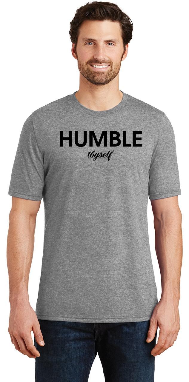 Mens-Humble-Thyself-Tri-Blend-Tee-Religious-Inspirational-Country-Yoga thumbnail 12