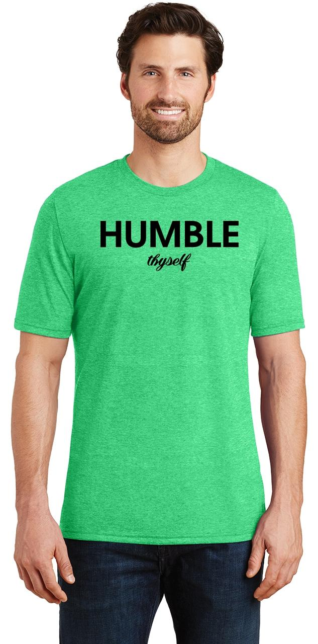 Mens-Humble-Thyself-Tri-Blend-Tee-Religious-Inspirational-Country-Yoga thumbnail 9