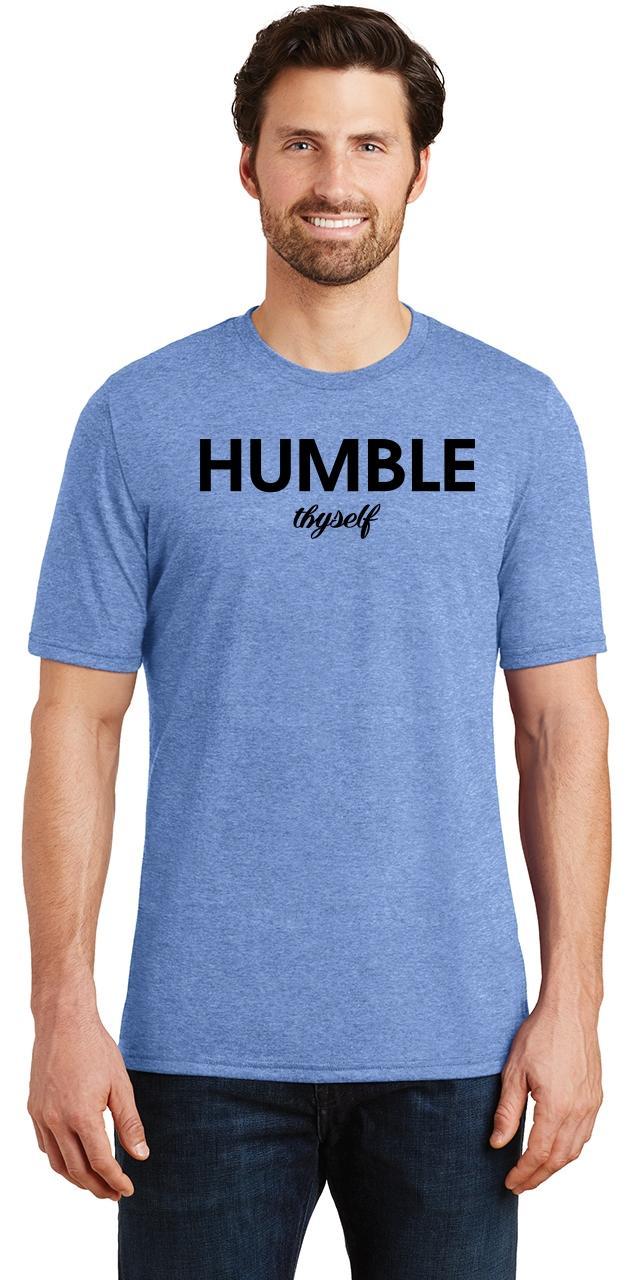 Mens-Humble-Thyself-Tri-Blend-Tee-Religious-Inspirational-Country-Yoga thumbnail 15