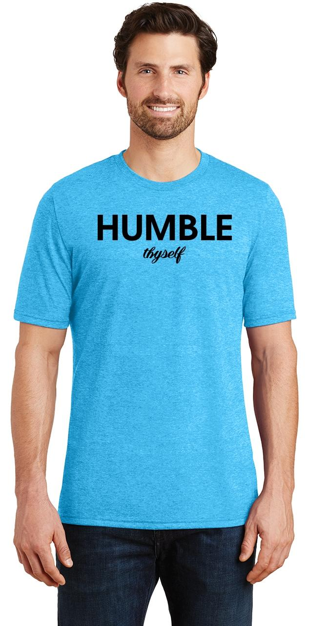 Mens-Humble-Thyself-Tri-Blend-Tee-Religious-Inspirational-Country-Yoga thumbnail 30