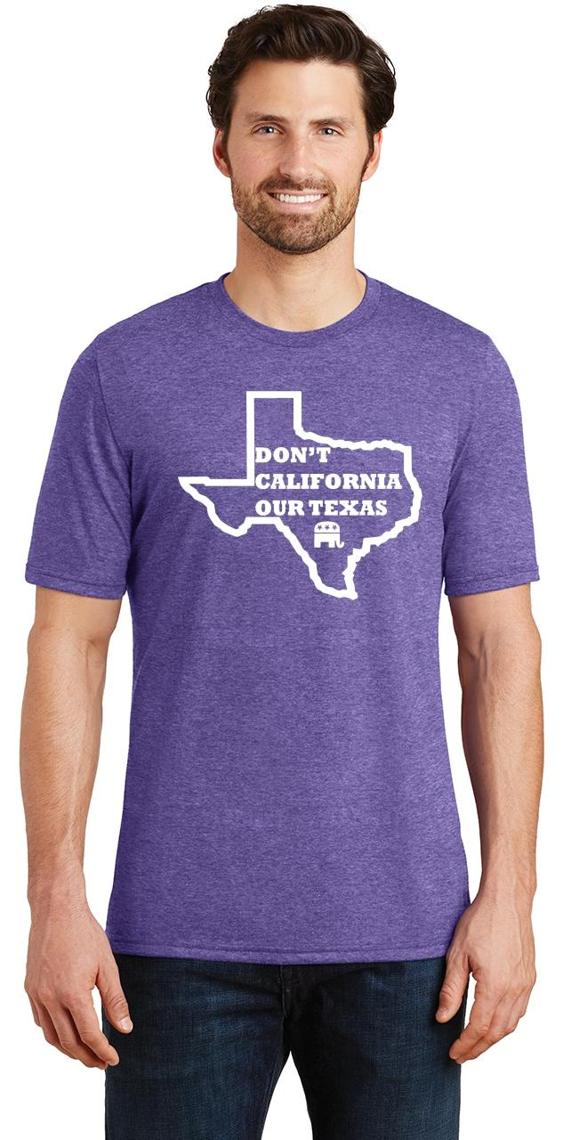 Mens-Don-039-t-California-Our-Texas-Tri-Blend-Tee-Republican-Cruz-Political-Shirt thumbnail 21