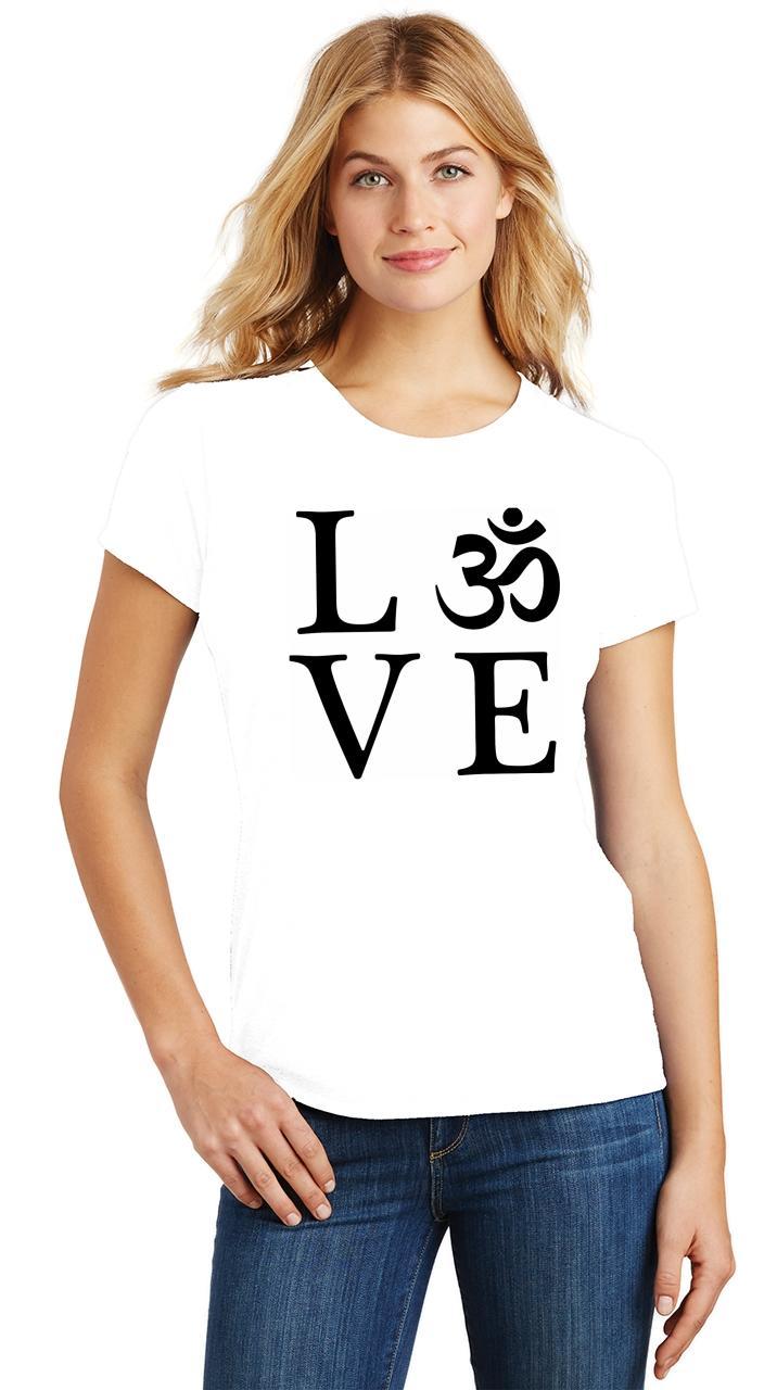 Ladies-Love-Om-Tri-Blend-Tee-Yoga-Peace-Calm-Shirt thumbnail 36