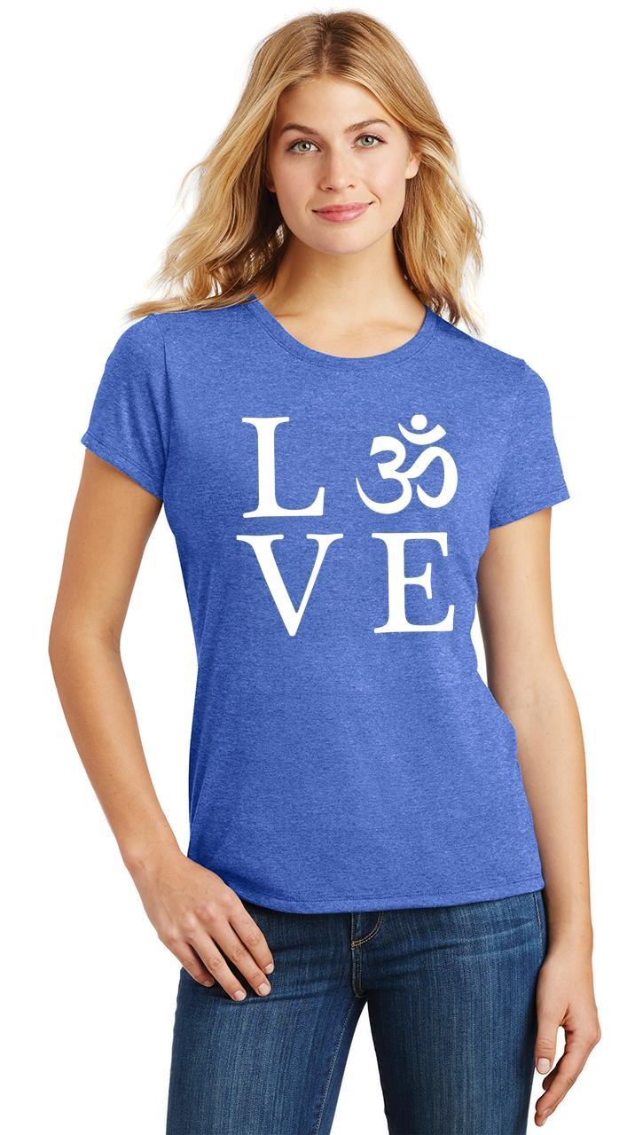 Ladies-Love-Om-Tri-Blend-Tee-Yoga-Peace-Calm-Shirt thumbnail 30