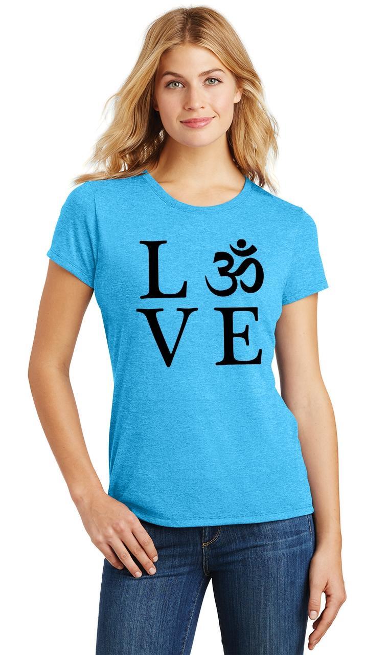 Ladies-Love-Om-Tri-Blend-Tee-Yoga-Peace-Calm-Shirt thumbnail 33