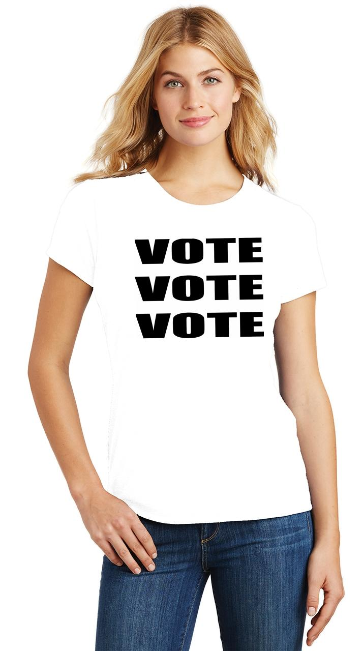 Ladies-Vote-Vote-Vote-Tri-Blend-Tee-Elections-Politics-2020-President thumbnail 6