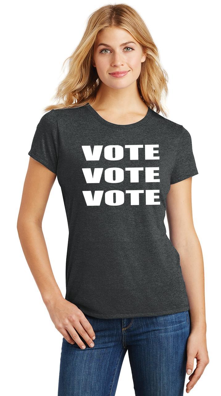 Ladies-Vote-Vote-Vote-Tri-Blend-Tee-Elections-Politics-2020-President thumbnail 10