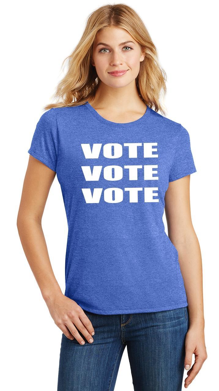 Ladies-Vote-Vote-Vote-Tri-Blend-Tee-Elections-Politics-2020-President thumbnail 14