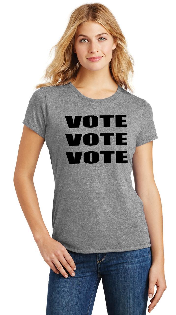 Ladies-Vote-Vote-Vote-Tri-Blend-Tee-Elections-Politics-2020-President thumbnail 22