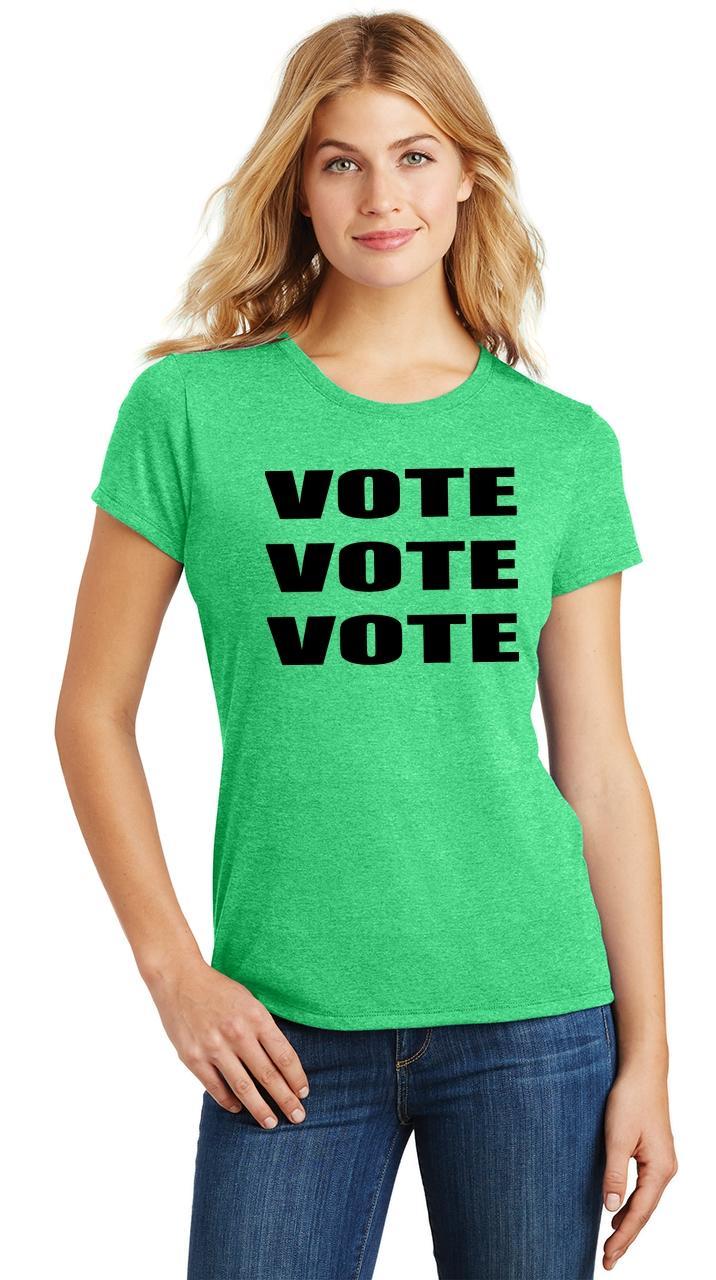 Ladies-Vote-Vote-Vote-Tri-Blend-Tee-Elections-Politics-2020-President thumbnail 26