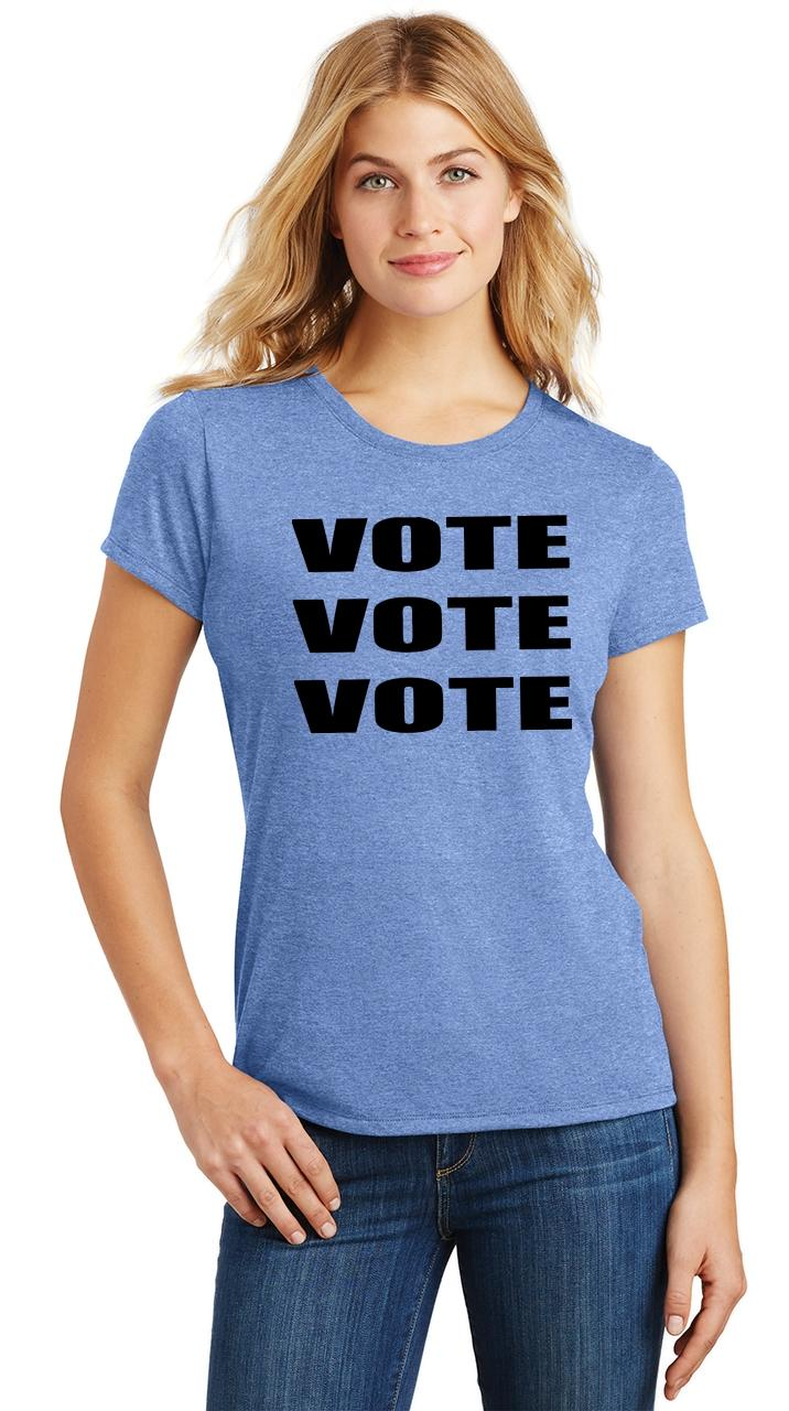 Ladies-Vote-Vote-Vote-Tri-Blend-Tee-Elections-Politics-2020-President thumbnail 30