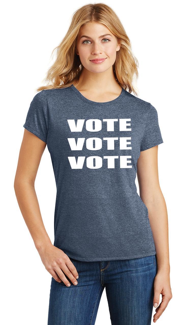 Ladies-Vote-Vote-Vote-Tri-Blend-Tee-Elections-Politics-2020-President thumbnail 34