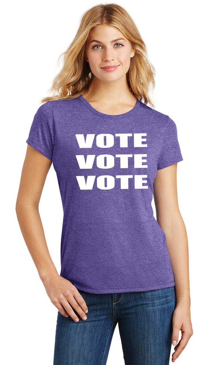 Ladies-Vote-Vote-Vote-Tri-Blend-Tee-Elections-Politics-2020-President thumbnail 38
