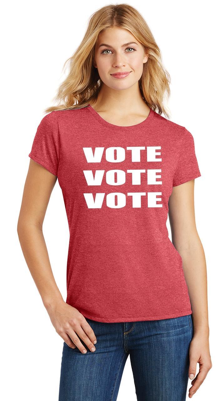 Ladies-Vote-Vote-Vote-Tri-Blend-Tee-Elections-Politics-2020-President thumbnail 42