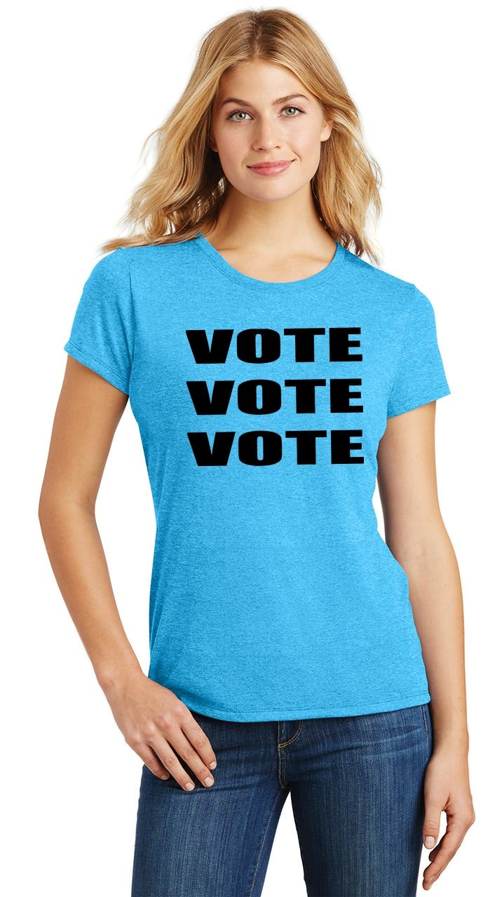 Ladies-Vote-Vote-Vote-Tri-Blend-Tee-Elections-Politics-2020-President thumbnail 46