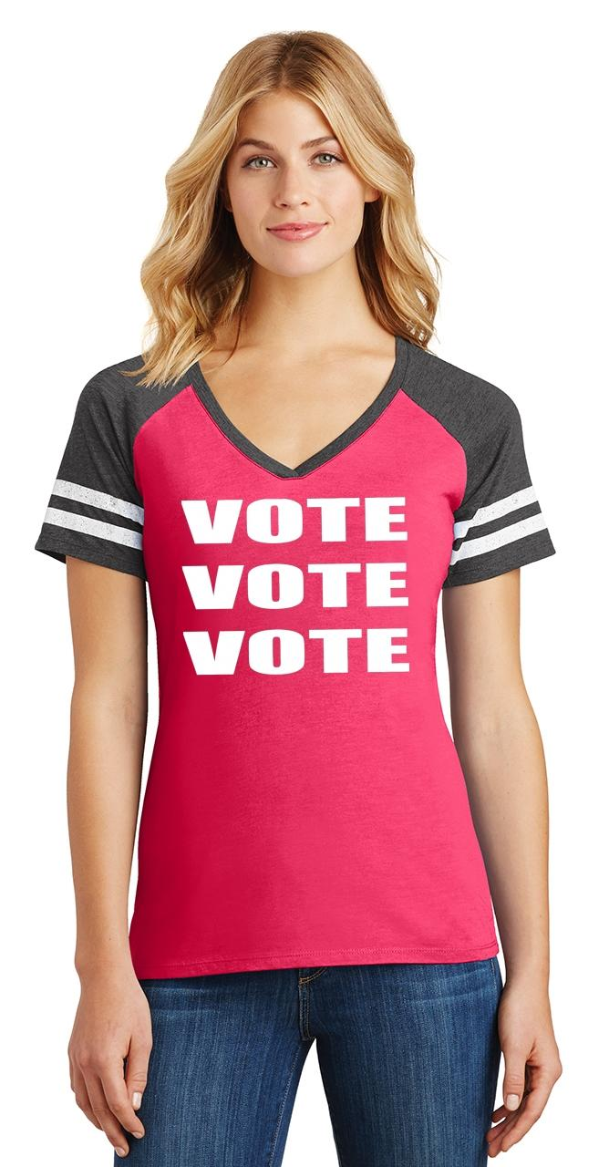 Ladies-Vote-Vote-Vote-Game-V-Neck-Tee-Elections-Politics-2020-President thumbnail 22