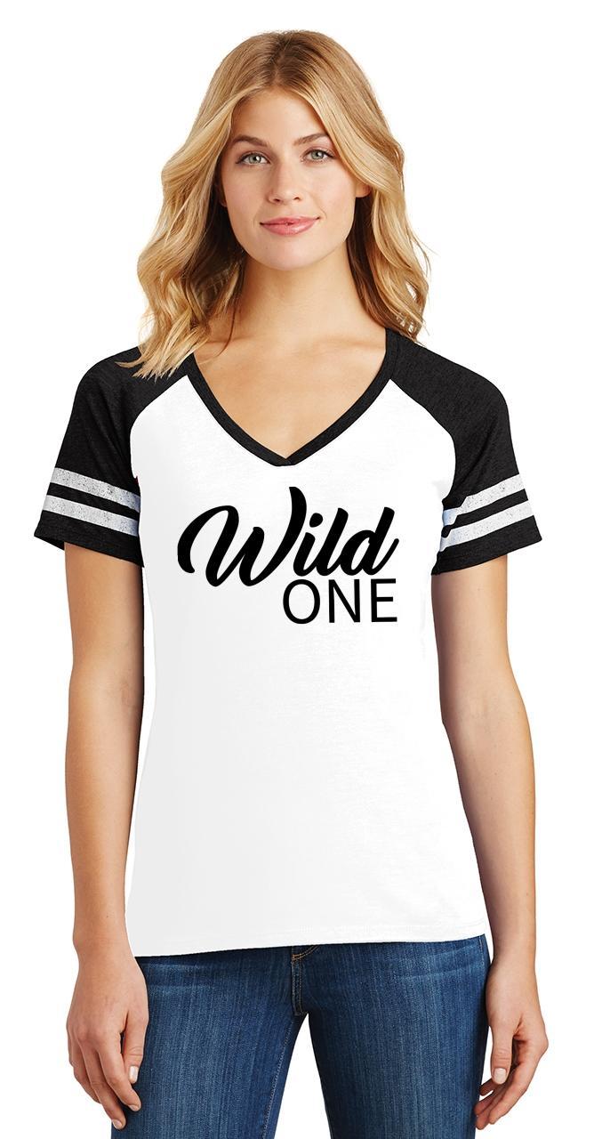 Ladies-Wild-One-Game-V-Neck-Tee-Country-Free thumbnail 6