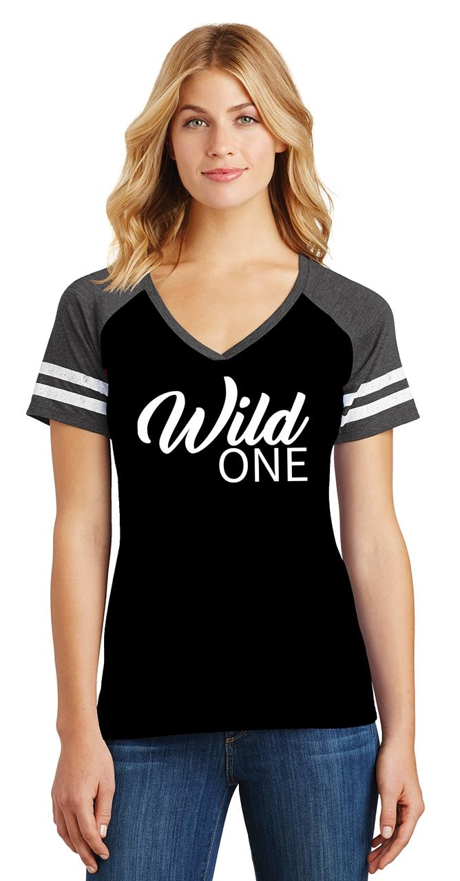 Ladies-Wild-One-Game-V-Neck-Tee-Country-Free thumbnail 10