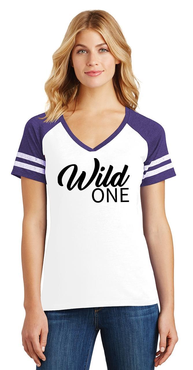 Ladies-Wild-One-Game-V-Neck-Tee-Country-Free thumbnail 30