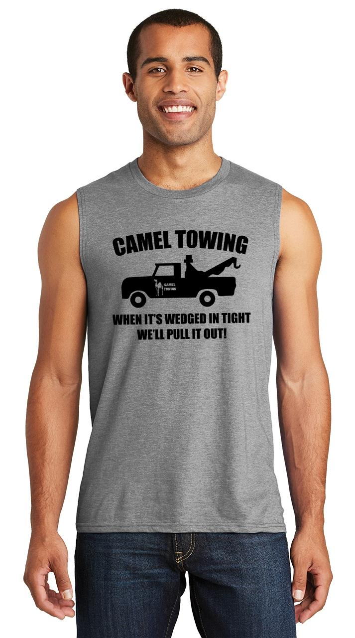 b85b3f7784 Mens Camel Towing Rude Humor Funny Shirt Muscle Tank Truck Sex Party ...