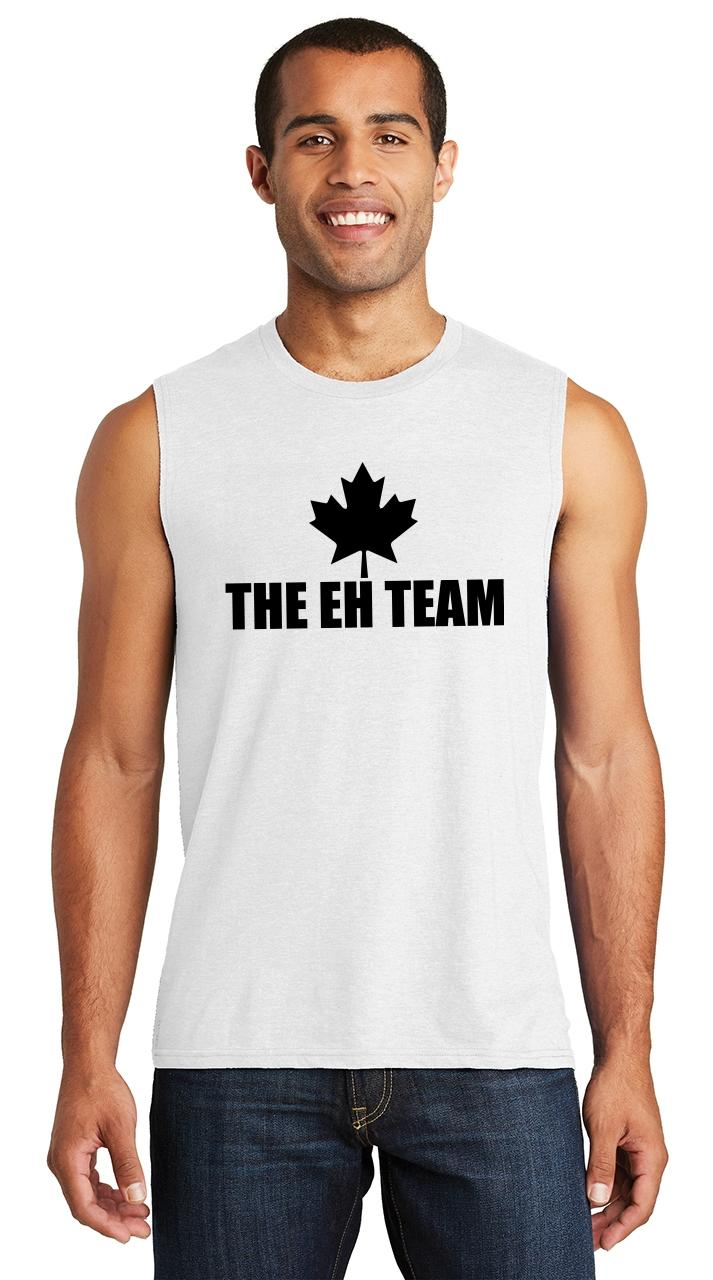 4dd5dff1965411 Mens Eh Team Funny Canadian Hockey Spoof Shirt Muscle Tank Maple ...