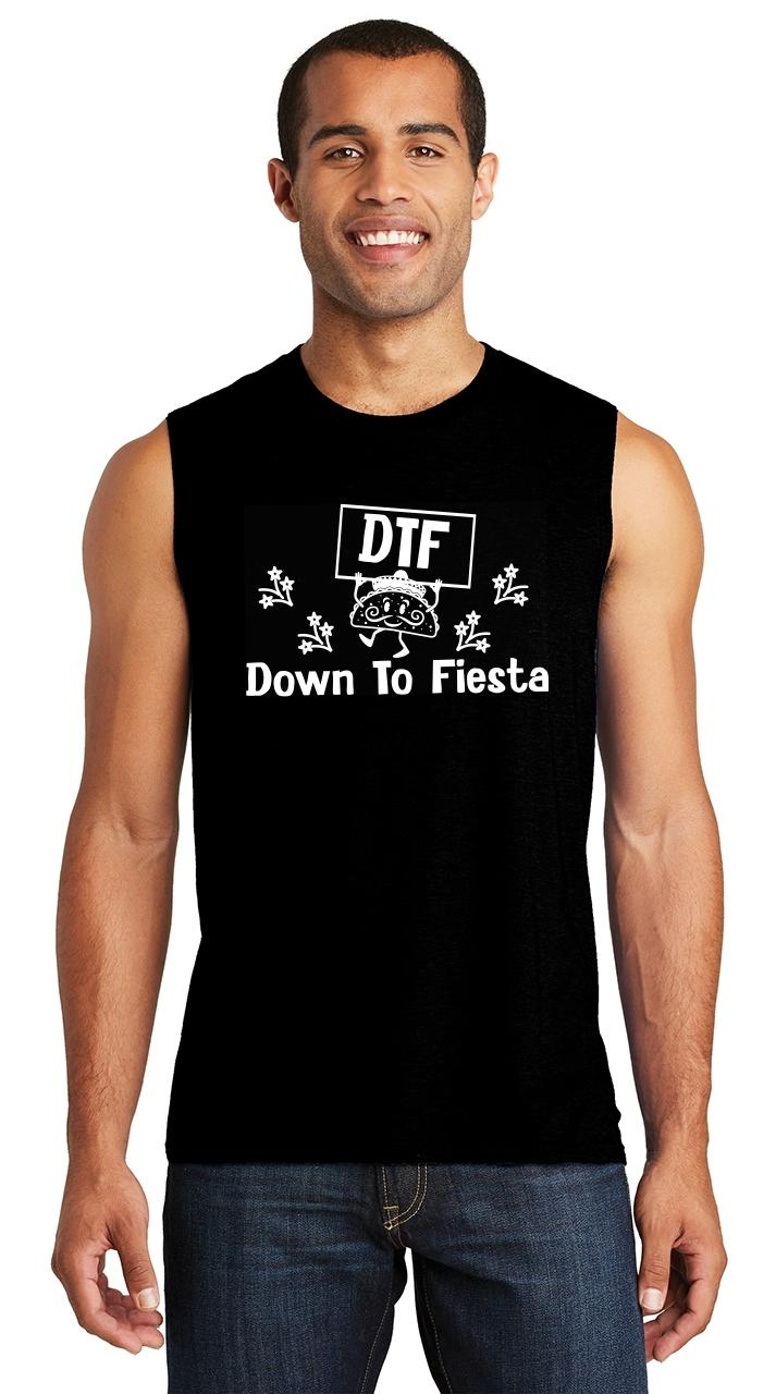 Comical Shirt Mens DTF Down to Fiesta Mexican Party Tank Top