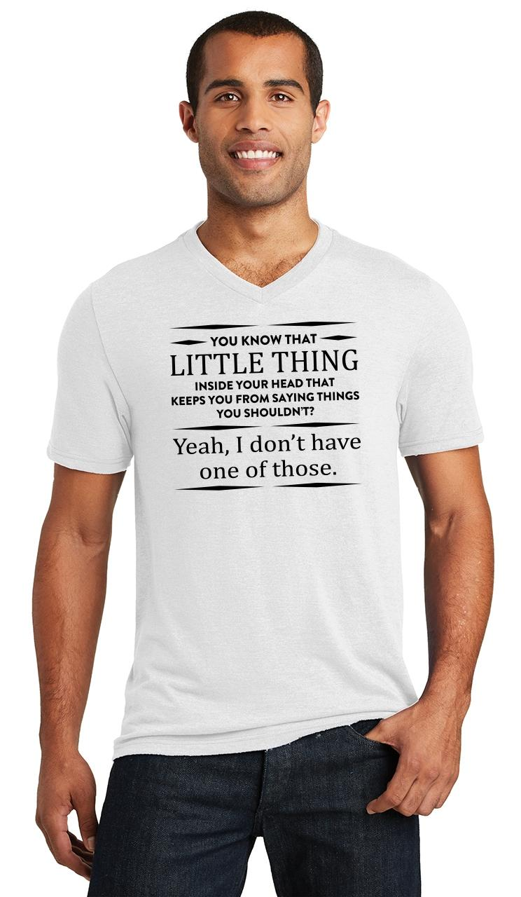 Mens-You-Know-That-Thing-In-Your-Head-I-Don-039-t-Have-One-Triblend-V-Neck-Party miniatura 18