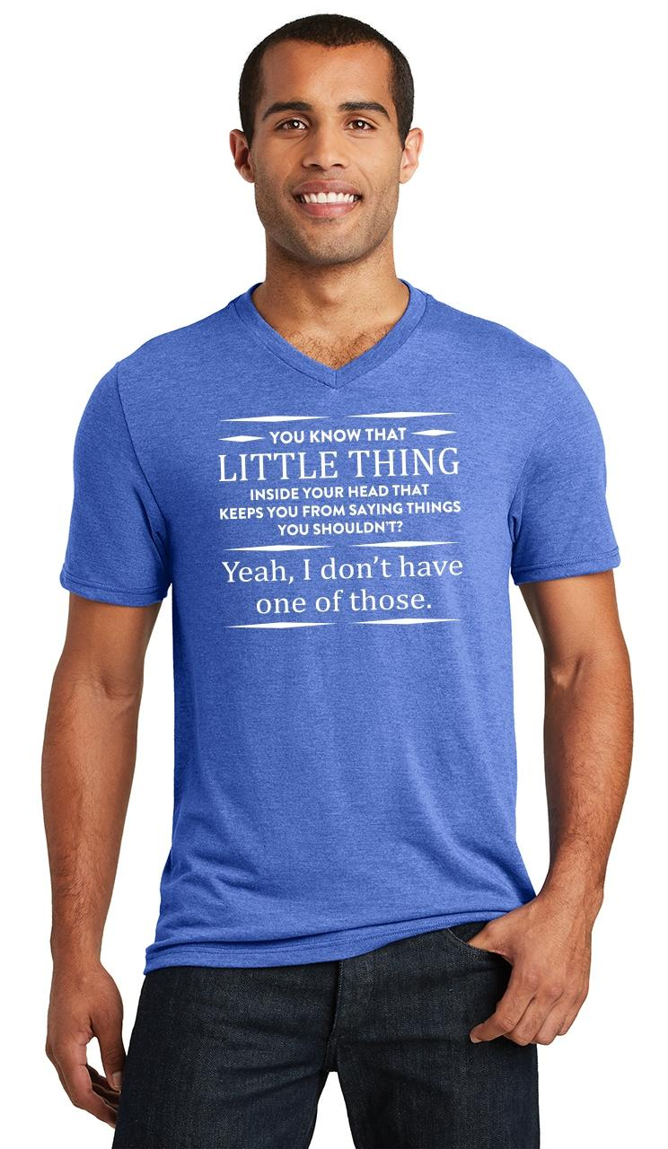 Mens-You-Know-That-Thing-In-Your-Head-I-Don-039-t-Have-One-Triblend-V-Neck-Party miniatura 15