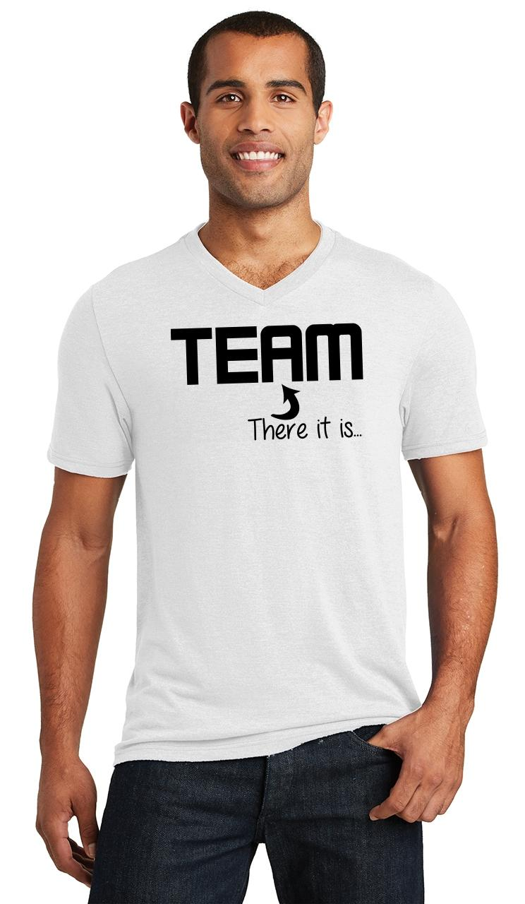 Mens-The-I-In-Team-There-It-Is-Triblend-V-Neck-Sport-College-Party miniatura 18
