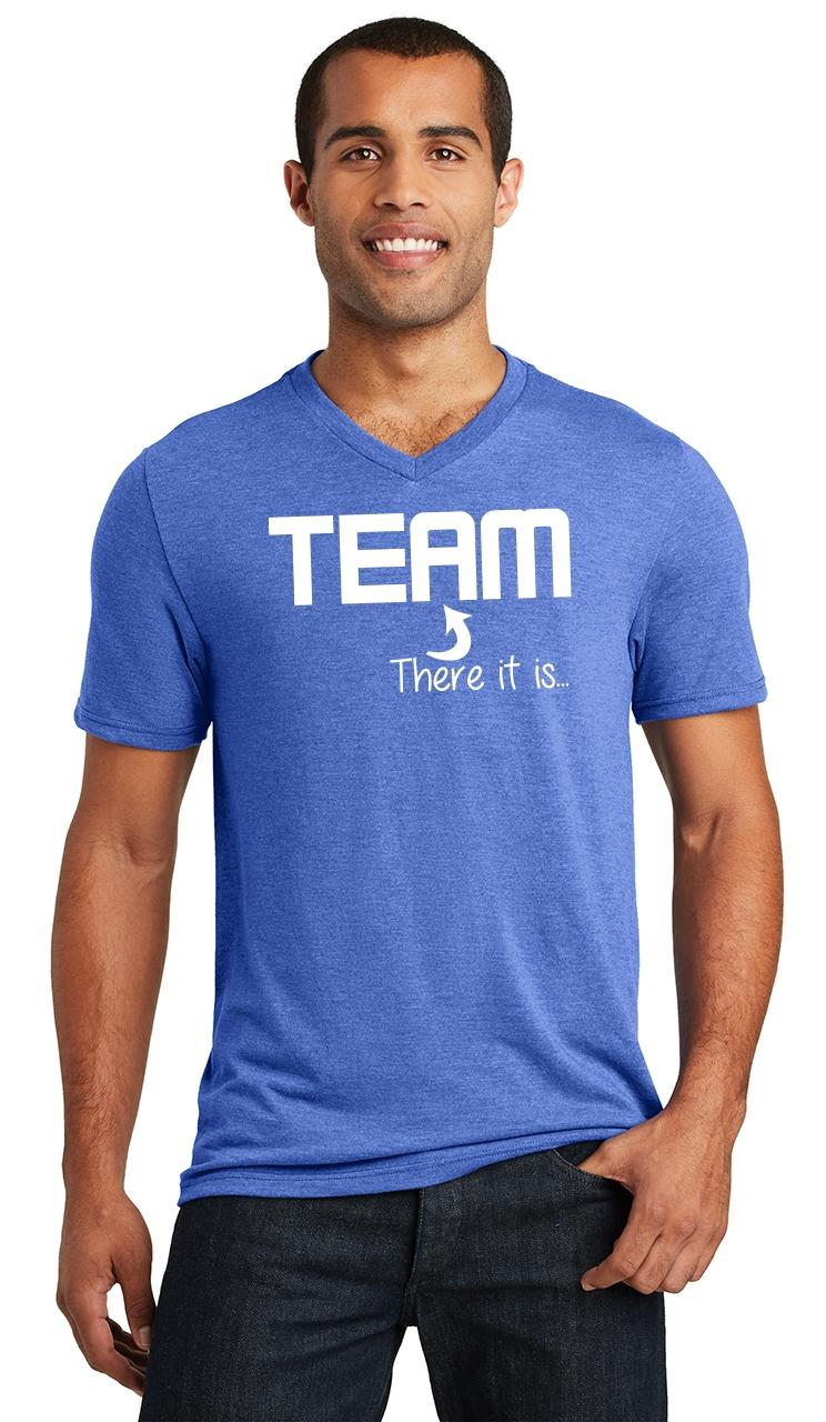 Mens-The-I-In-Team-There-It-Is-Triblend-V-Neck-Sport-College-Party miniatura 15