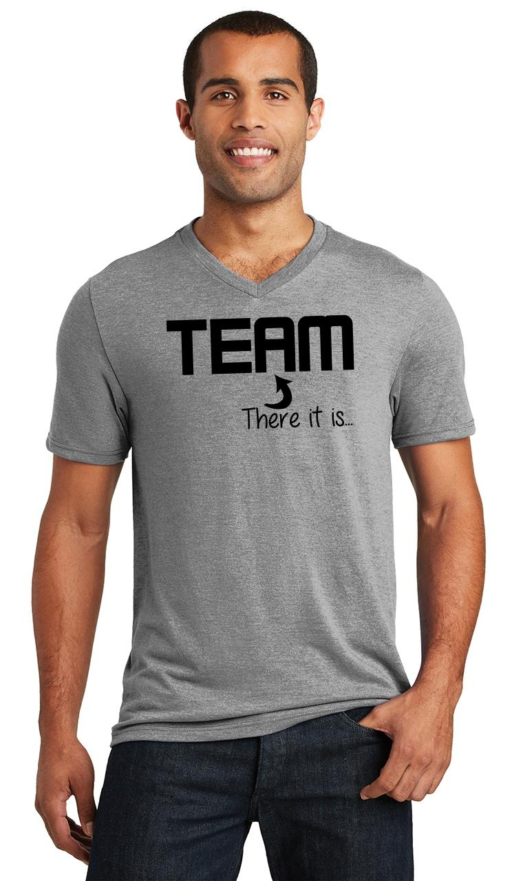 Mens-The-I-In-Team-There-It-Is-Triblend-V-Neck-Sport-College-Party miniatura 9