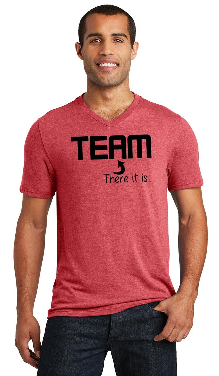 Mens-The-I-In-Team-There-It-Is-Triblend-V-Neck-Sport-College-Party miniatura 12